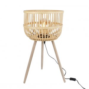 "Staande lamp ""Chris"" naturel bamboe"