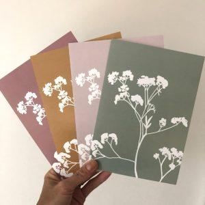 Fluitekruid set van 4 kaarten